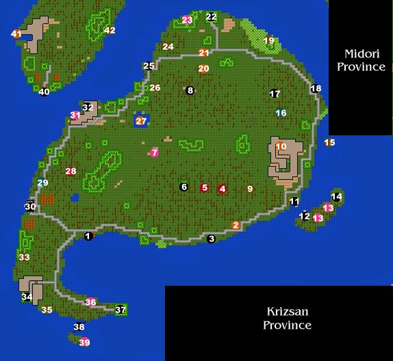 Isle of Bigail Map