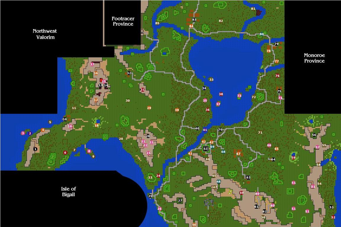 Midori Province Map
